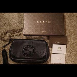 Gucci SoHo Chain Crossbody Bag Black Leather